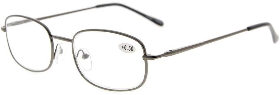 Eyekepper Metal Frame Spring Hinged Arms Reading Glasses +1.5
