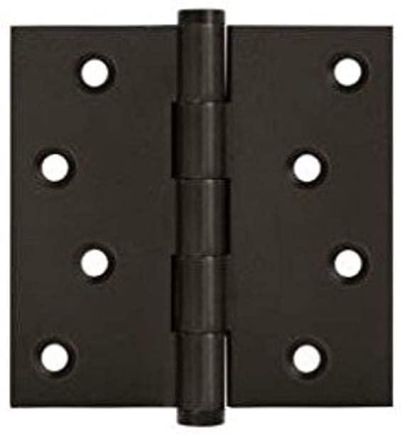 Deltana DSB410B-RZ Residential/Zig Zag Solid Brass 4-Inch x 4-Inch Square Hinge