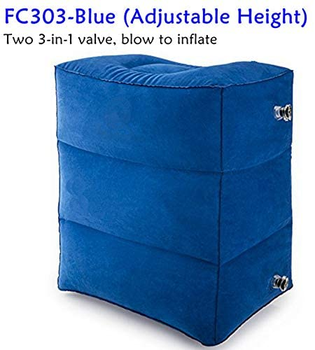 SHIJING Inflatable Foot Rest Cushion for Under Desk Leg Support Pillow Knee Sciatica Hip Joint Ankle Pain Relief Car Airplane Pillows
