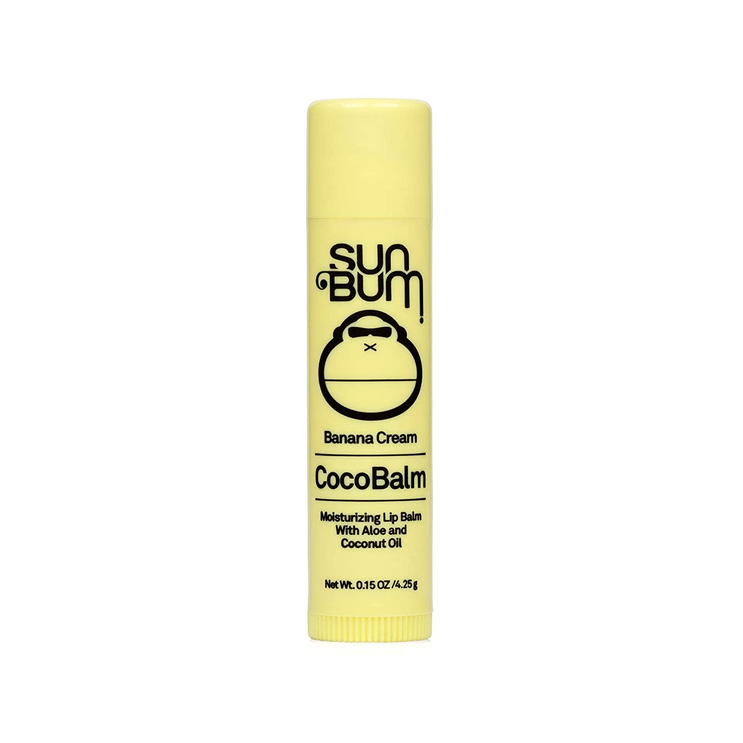 Sun Bum Banana Cream Cocobalm | Hydrating Lip Balm with Aloe | Hypoallergenic, Paraben Free, Silicone Free,| 0.15oz Stick