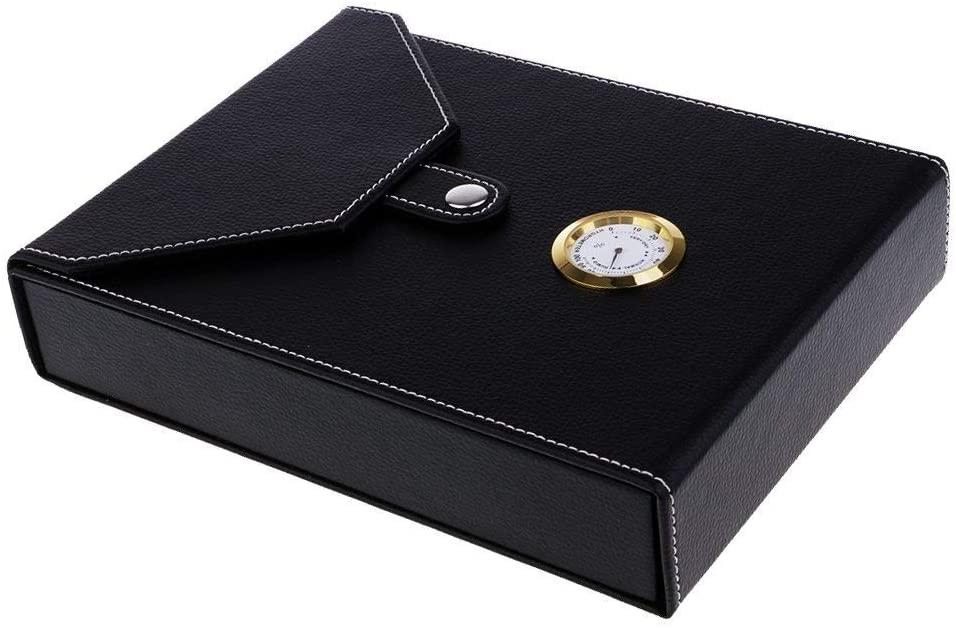 ZH-Wang Cigar Box Portable Spain Cedar Wood Travel Cigar Humidor Set with Humidifier and Hygrometer #9 Cabinet