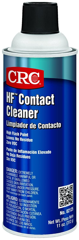 CRC HF Liquid Contact Cleaner, 11 oz Aerosol Can, Clear
