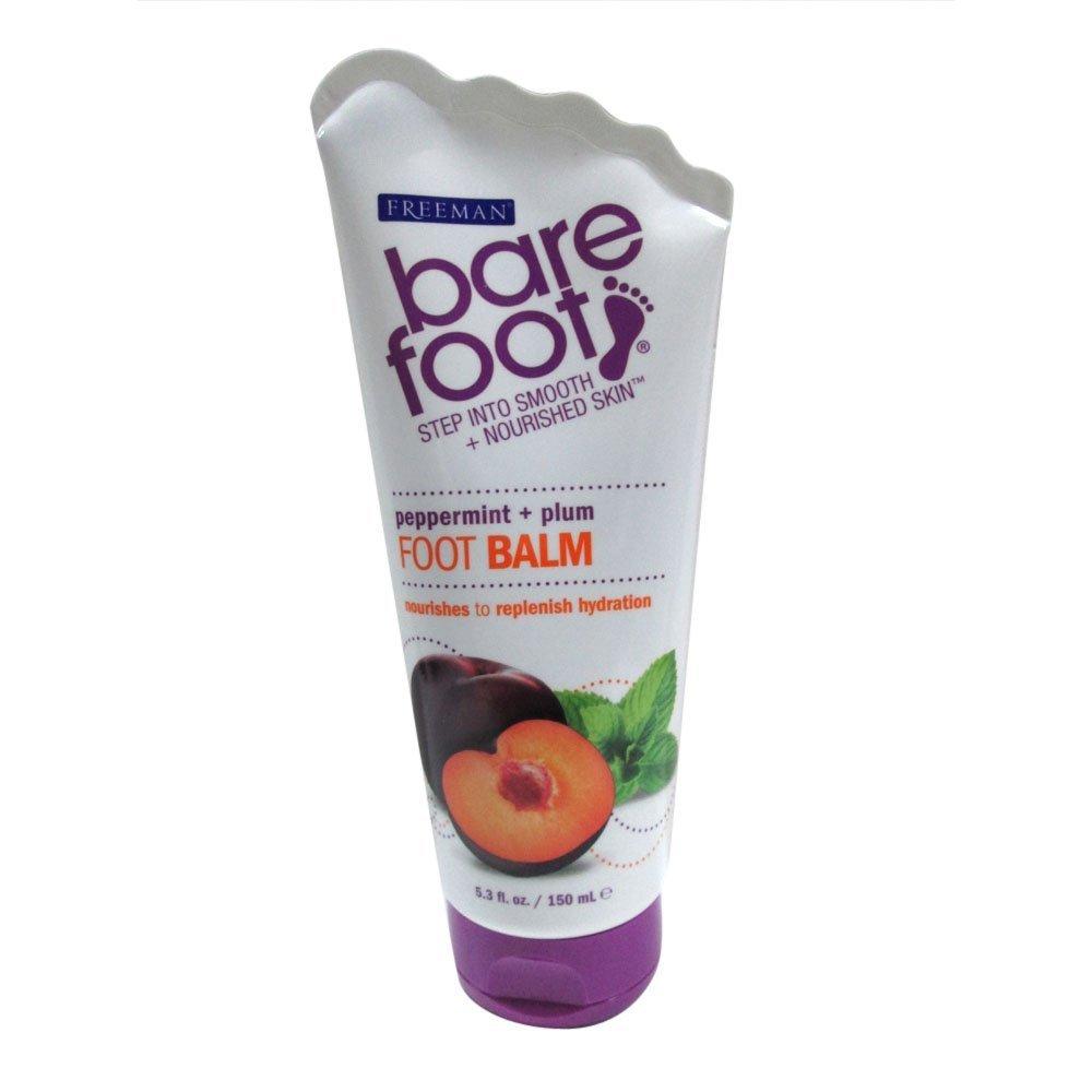 Freeman Bare Foot Softening Foot Balm, Peppermint & Plum 5.30 oz (Pack of 2)