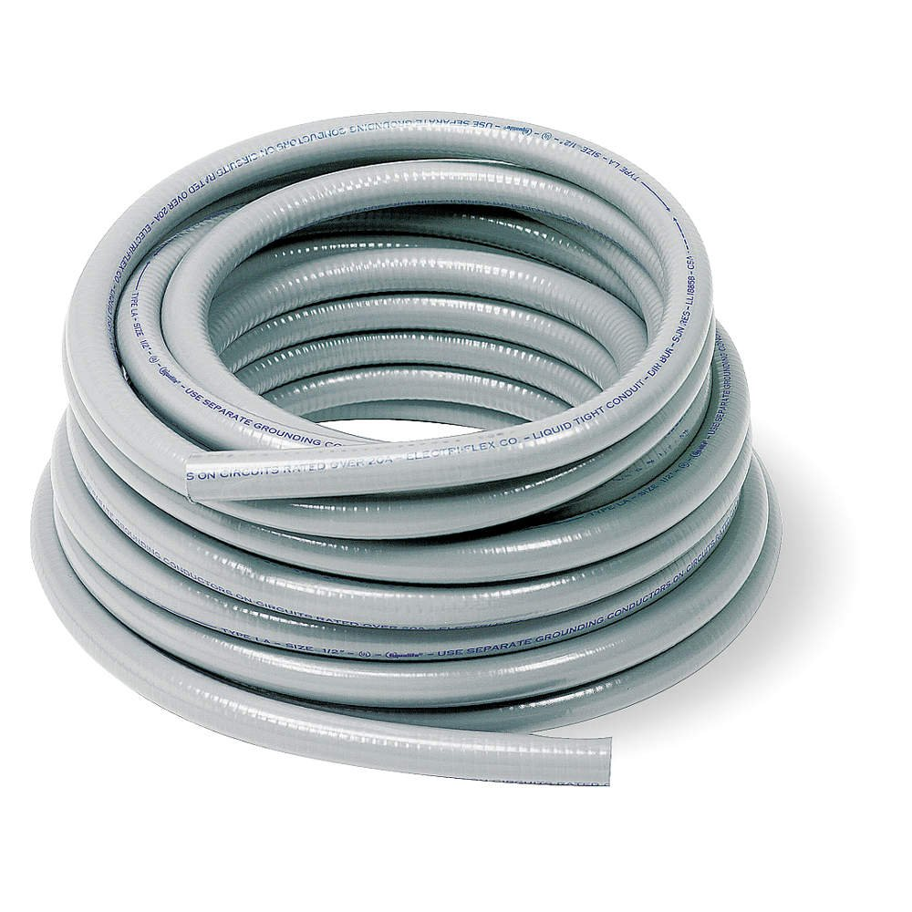 Liquid-Tight Conduit, 1/2 In x 100ft, Gray