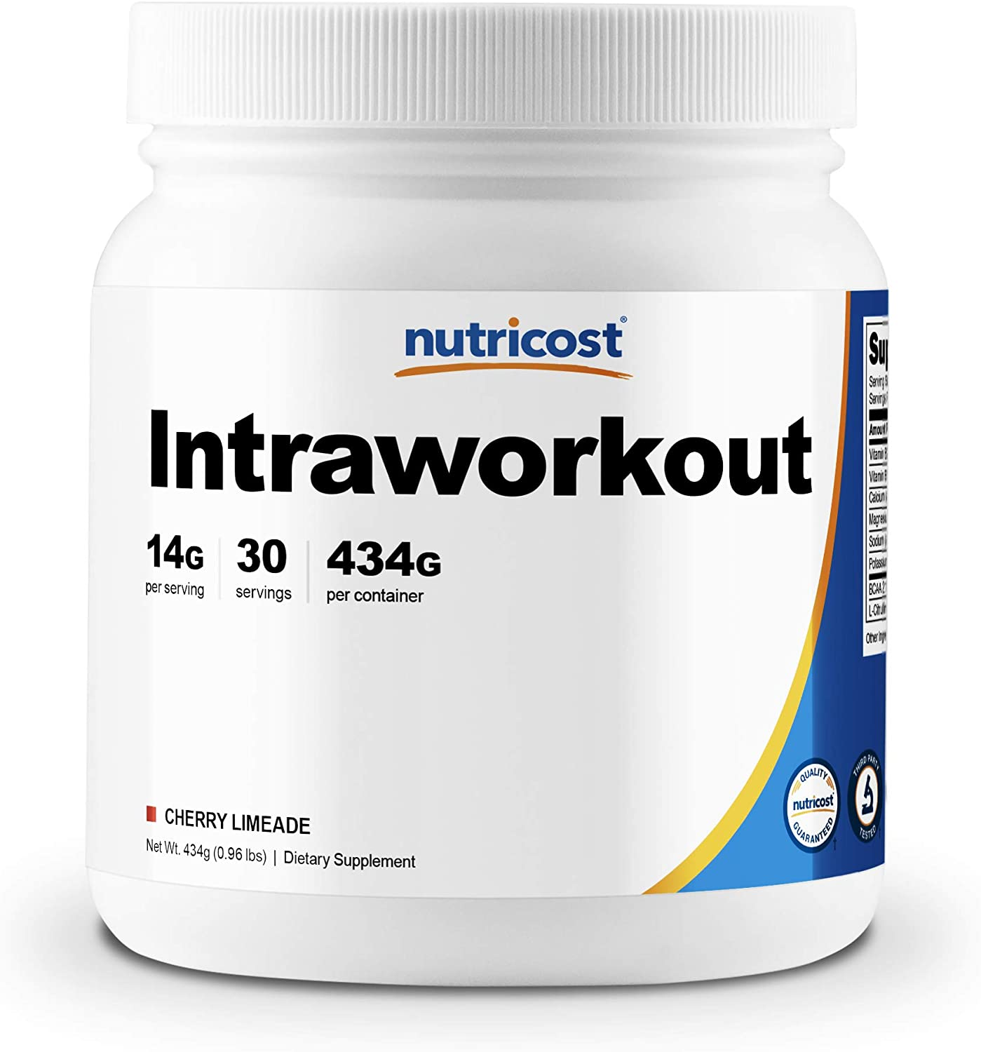 Nutricost Intra Workout Powder (Cherry Limeade) 30 Servings - Gluten Free and Non-GMO Intraworkout Supplement