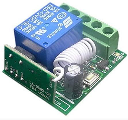 Calvas 10A 1 Channel Receiver Wireless Relay RF Remote Control Switch DC12V DIY Module 433MHZ Relay Switch Receiver Module Calvas