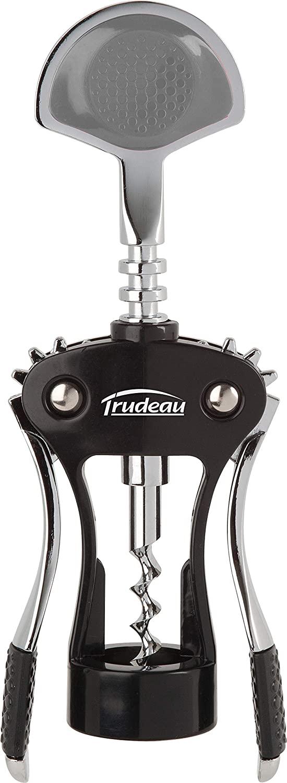 Trudeau Wine Opener Maison Deluxe Wing Corkscrew, Medium, Silver/Black
