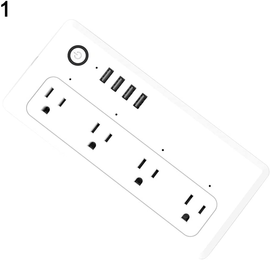 Maserfaliw Smart Wifi Power Strip, 4 Outlet 4 USB Output Surge Protection, Works with DHgate Alexa & Google Assistant  2.4GHz Network 1PCS
