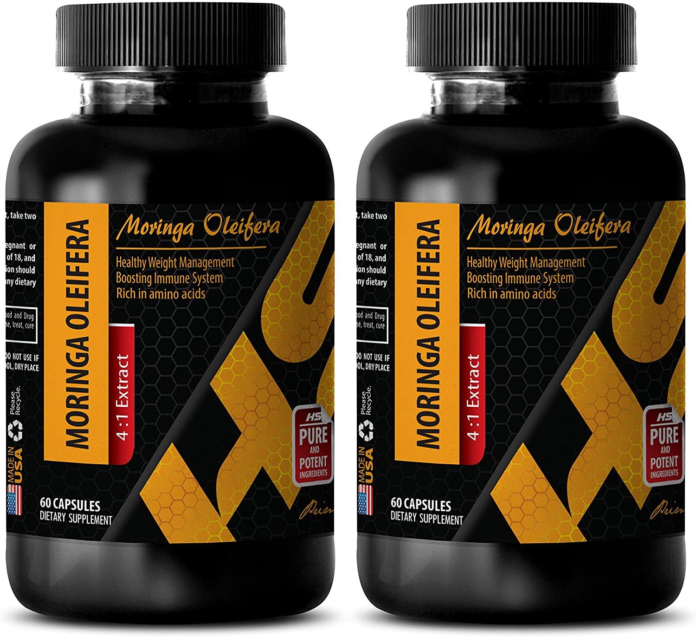 Fat Burner for Women - Moringa OLEIFERA 4:1 Extract - Moringa Extract Capsule - 2 Bottle 120 Capsules