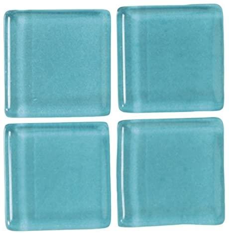 MosaixSoft Glass Tiles 10 x 10 x 4 mm 200 g ~ 215 pcs. Turquoise