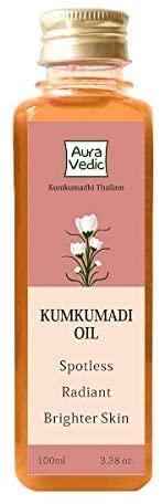 Auravedic Kumkumadi Oil Pure Saffron For Ultra Skin Brightening and Radiance, 100ml