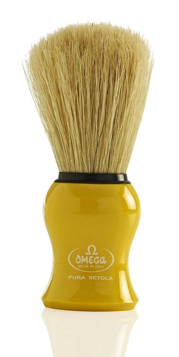 Omega 10065 Pure Bristle Shaving Brush (Yellow) [Personal Care] by OMEGA