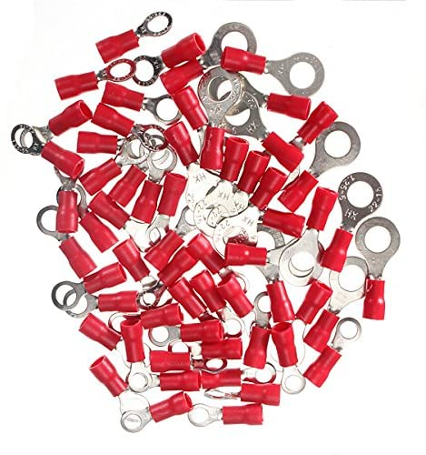 CoCocina 20Pcs 0.5-1.5mm² Ring Ground Insulated Electrical Crimp Terminal - 4mm