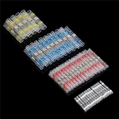 Davitu Terminals - 75PCS Insulated Heat Shrink Butt Terminals Solder Seal Connector Waterproof Splice Wire Connectors Soldering Terminal 1.5-6.0mm