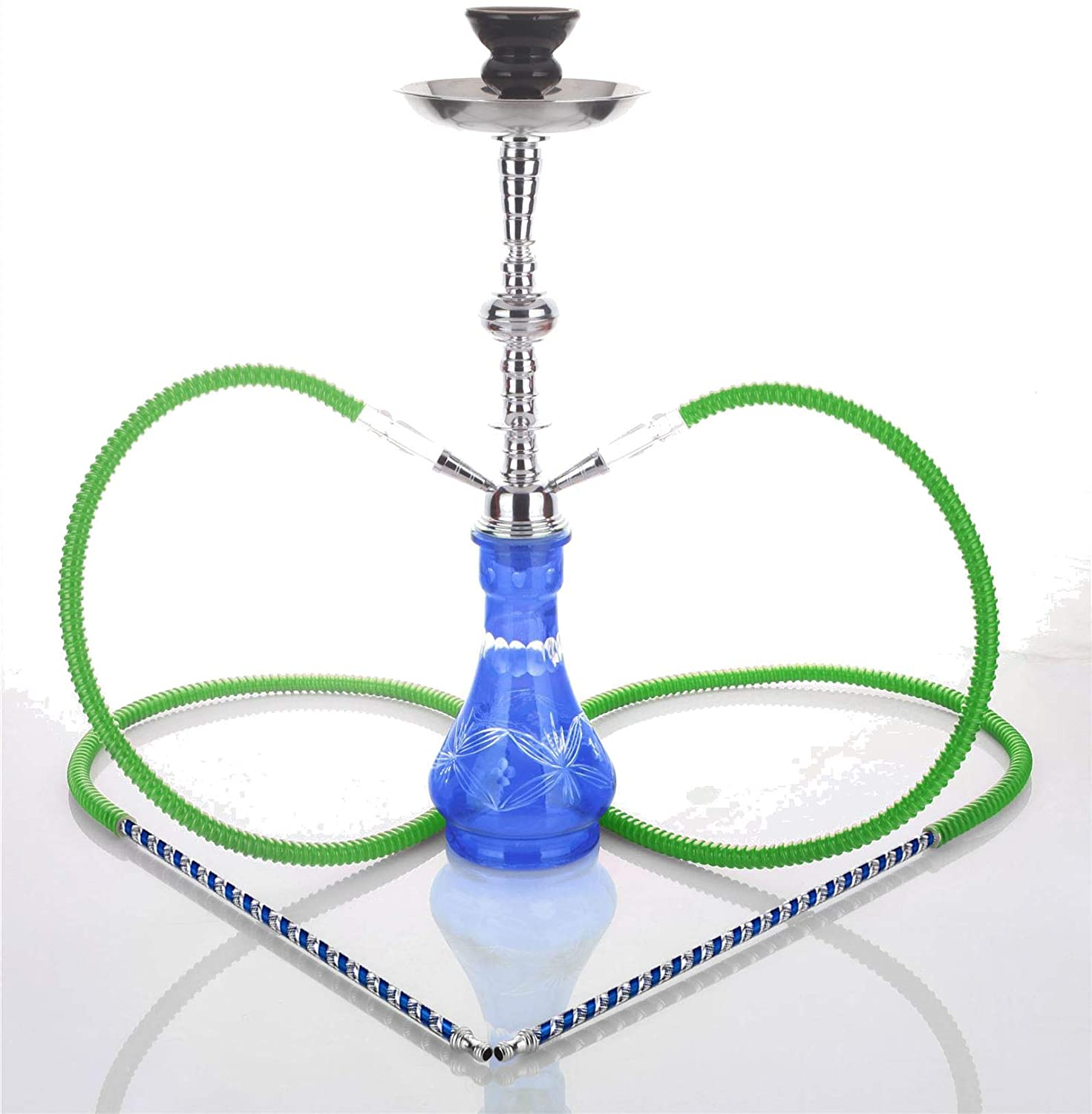 Medium Blue 2 Hose hooka - no Tobacco no Nicotine