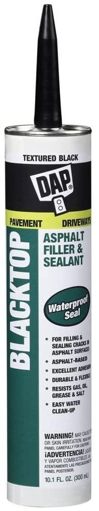 DAP 27065 12 Pack 10.1 oz. Blacktop Asphalt VOC-Compliant Filler and Sealant, Textured Black