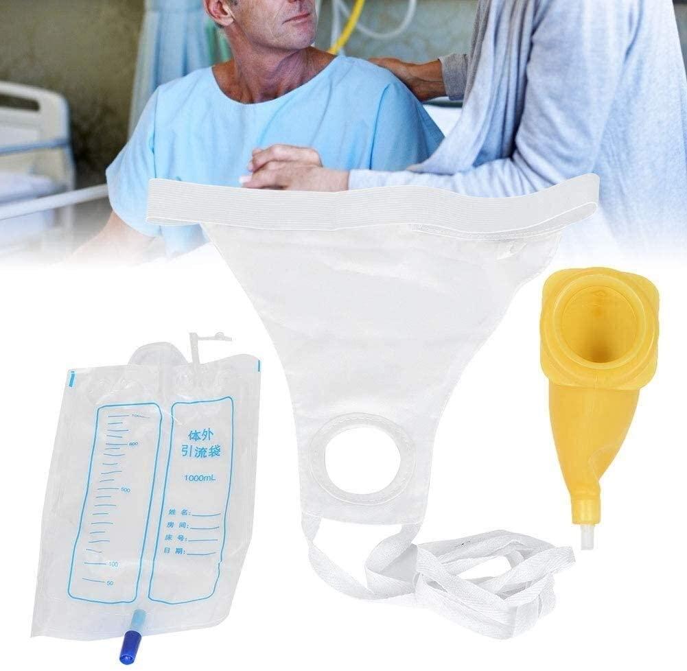 ZXFG Urinal Bag Portable Wearable Urinal +Urine Bag Collector +Toilet Elastic Waistband 1000ml Reusable Pee Bag (Size : Women)