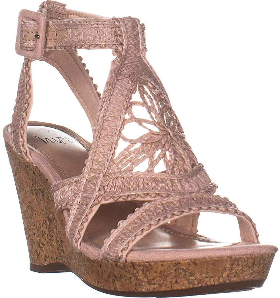 Impo Womens Omala Fabric Open Toe Casual Platform Sandals