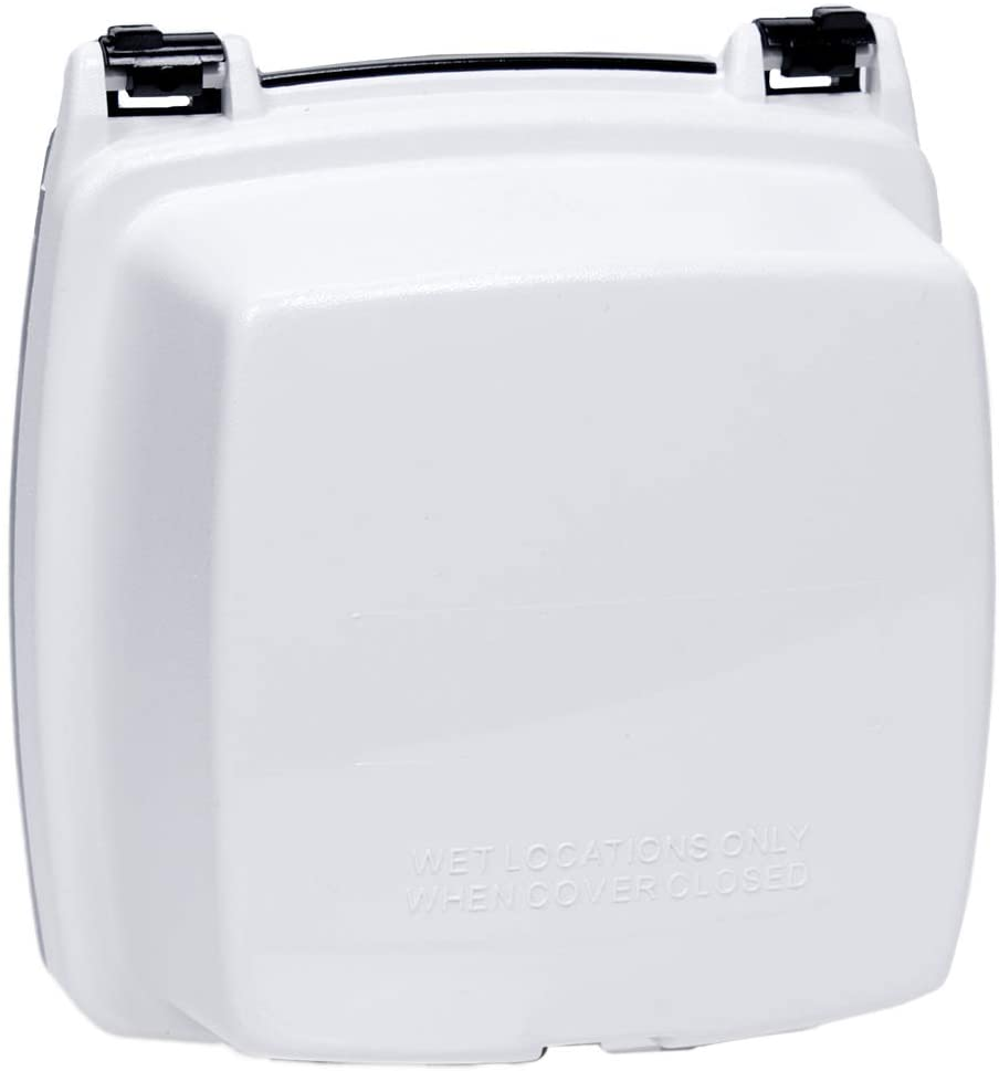 Intermatic WP1220WC Plastic In Use Cover, Double-Gang, White, 2-1/4-Inch Deep