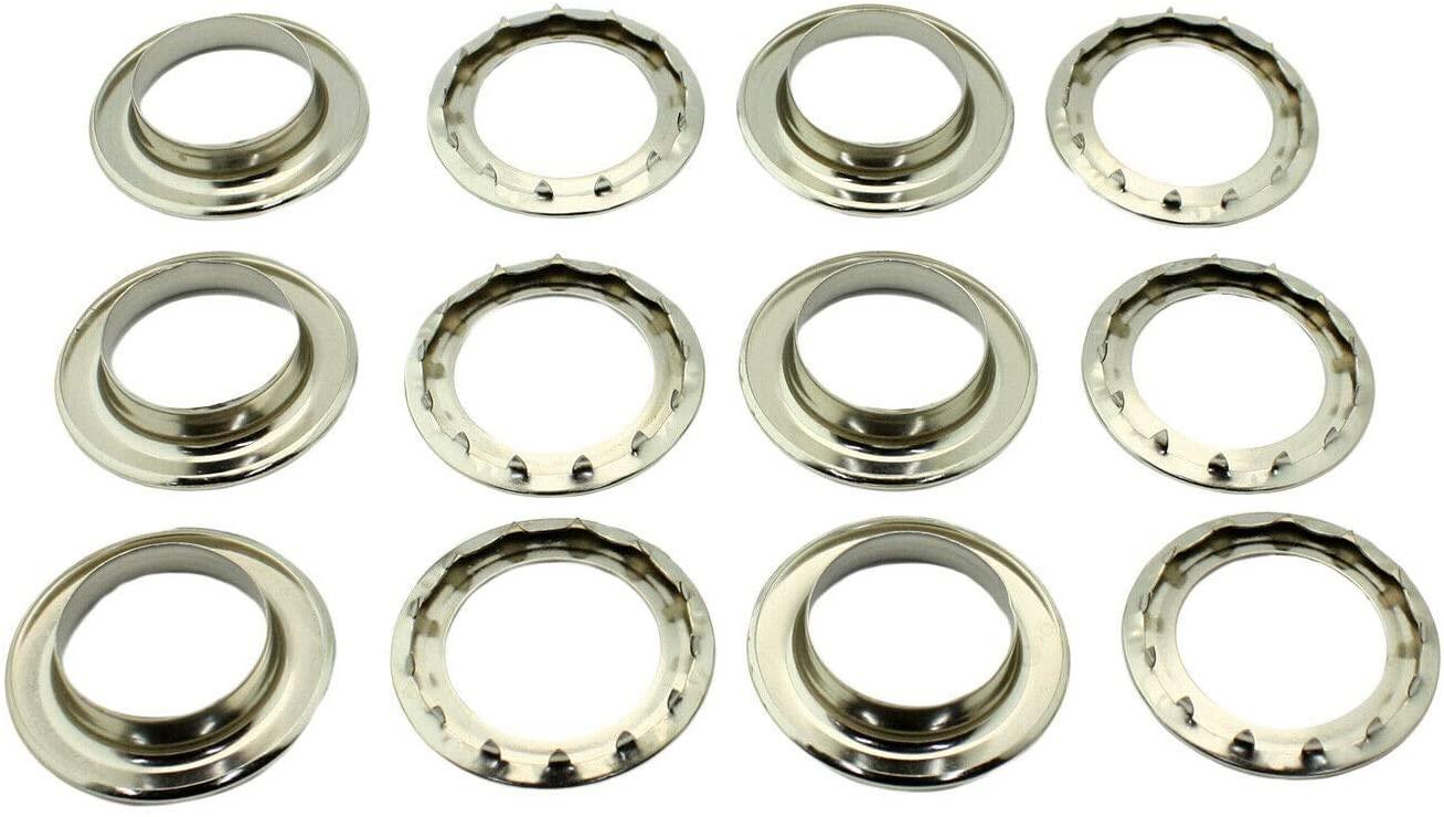 C.S. Osborne 6 Sets Nickel Grommets & Spur Washers #N2-10 (1-1/2
