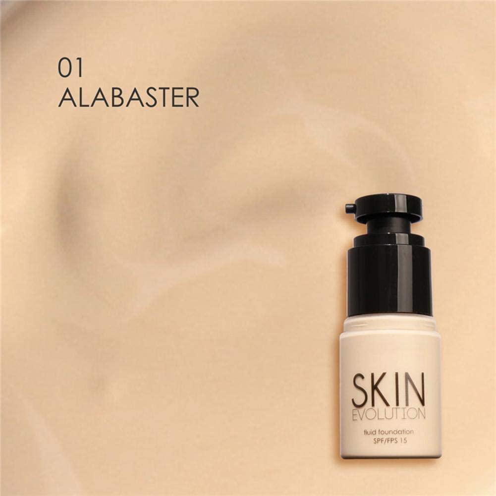 Naroote Base Cream, 8 Types Base Cream Face Whitening Moisturizer Concealer Camouflage Liquid Foundations(#1)