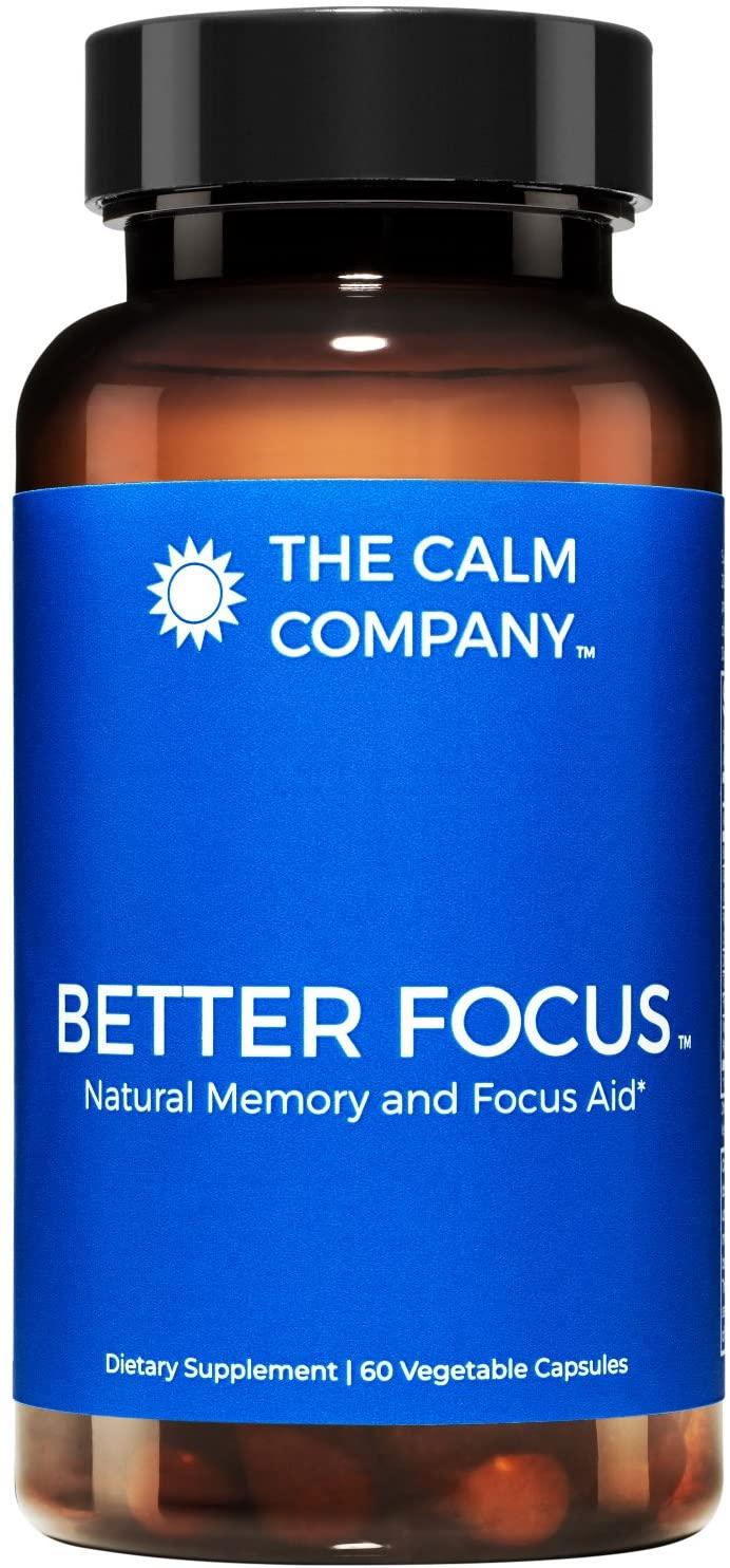 Better Focus - Nootropics Brain Support Supplement – Memory, Clarity, Energy & Focus Pills | Ginkgo Biloba, NeuroFactor, Bacopa Monnieri Root, DMAE, TheaKalm & More | Brain Booster 60 Vegan Caps
