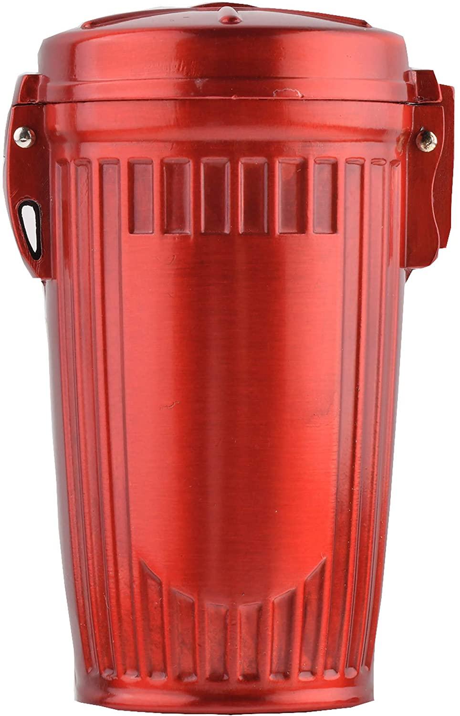 Quantum Abacus Mini Ashtray/Pocket Ashtray/Travelling Ashtray Made of Metal, Stylish Trash tin Design, Color: red, Mod. HX909-03