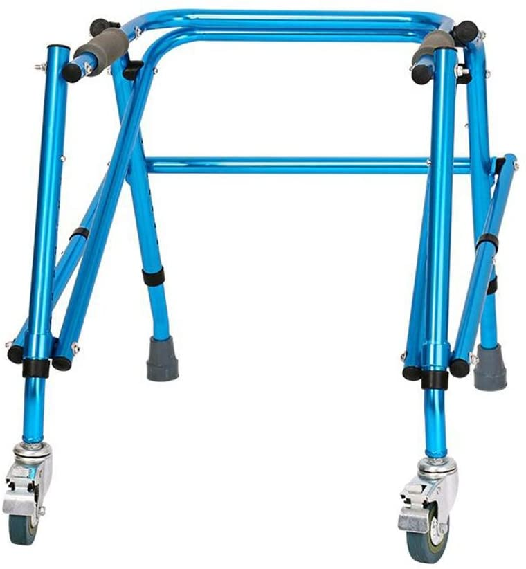 Effortsmy Drive Medical YC8212 Lightweight Aluminium Padded Folding Wheeled Walking Frame