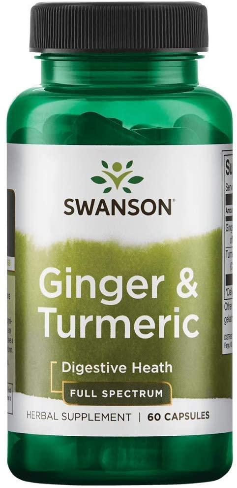 Swanson Full Spectrum Ginger & Turmeric 60 Capsules