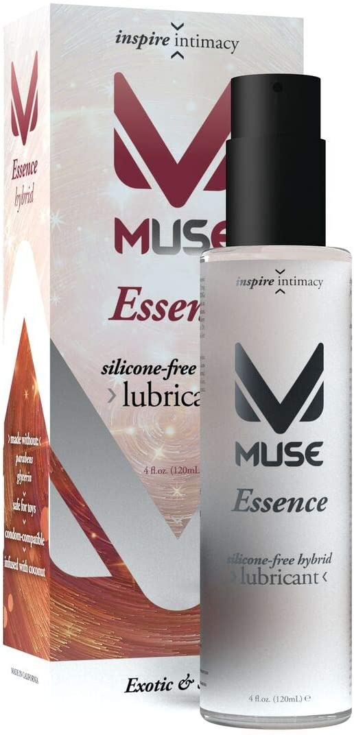 Muse Essence Silicone - Free Hybrid, 4 Ounce Premium Sex Lubricant for Men, Women and Couples (Free of Parabens and Glycerin)