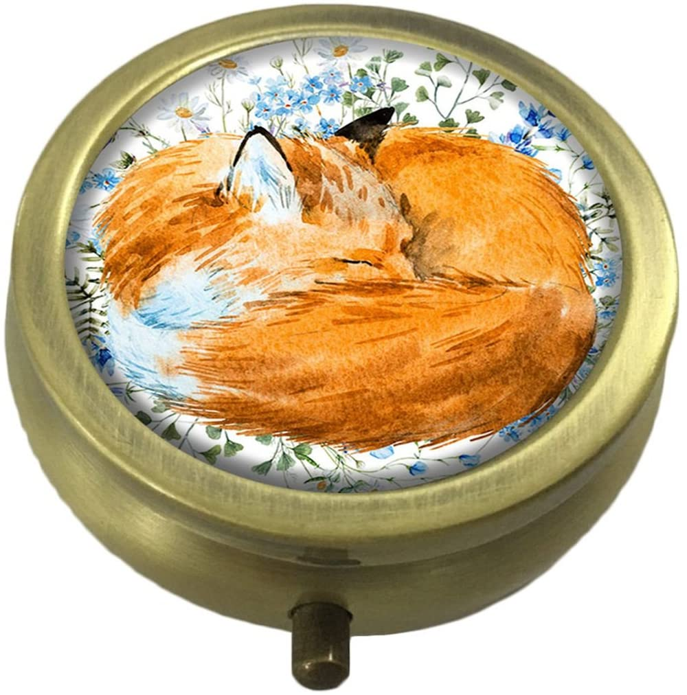 LCTCKP Fox Custom Fashion Hot Bronze Pill Box Western Medicine Tablet Decorative Box