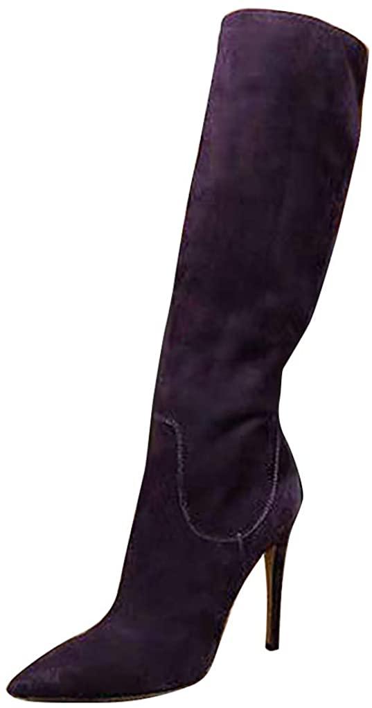 Zandina New Womens Handmade Knee High Boots Stlietto High Heel Boots Club Party Prom BFCM Fashion Evening Shoes