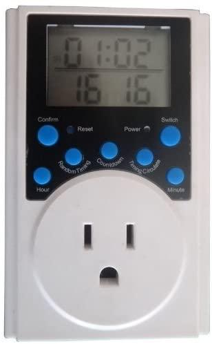 Digital LCD Electronic Plug-in Program Digital Electronic timer switch - PLUG SOCKET
