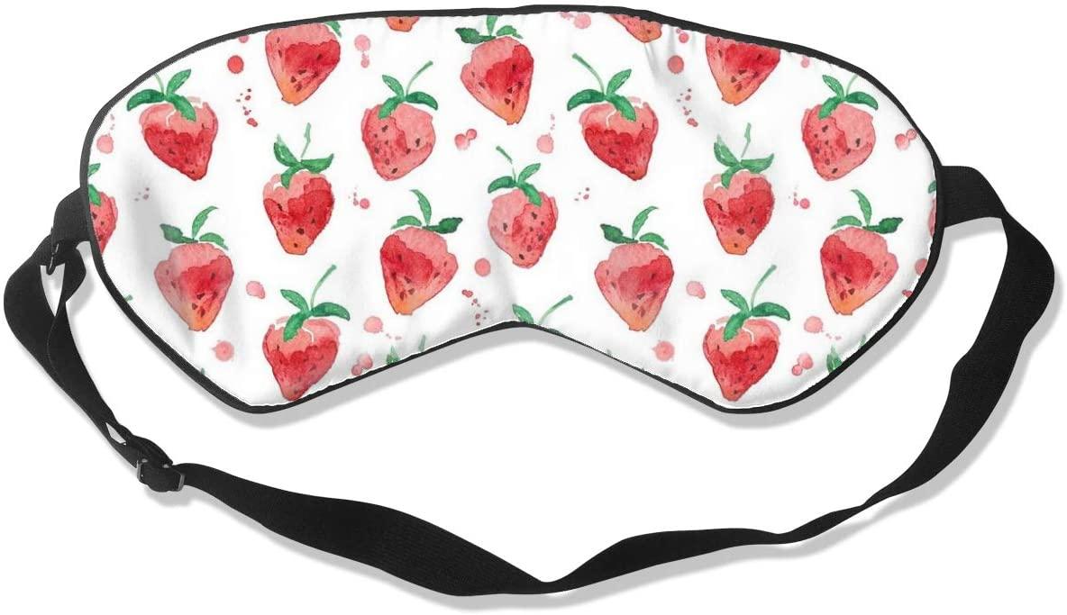 Strawberry Watercolor Art Women Men Eye Shade Cover for Sleeping,Eye Mask for Night Sleep