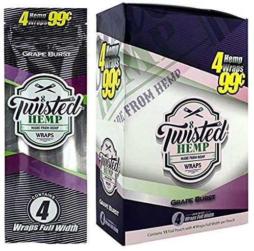 Twisted Hemp Wraps Grape Burst 15 puches with 4 wraps