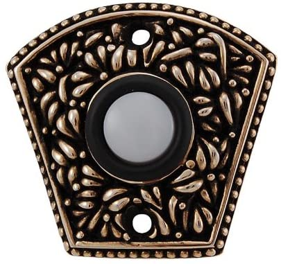 Vicenza Designs D4002 San Michele Fan Shaped Doorbell, Antique Gold