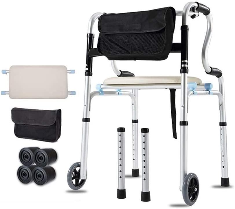 HTLLT Walking Aid Medical Instruments Walker Standard Walking Frame Elderly Disabled Auxiliary Non-Slip Power Assist Toilet