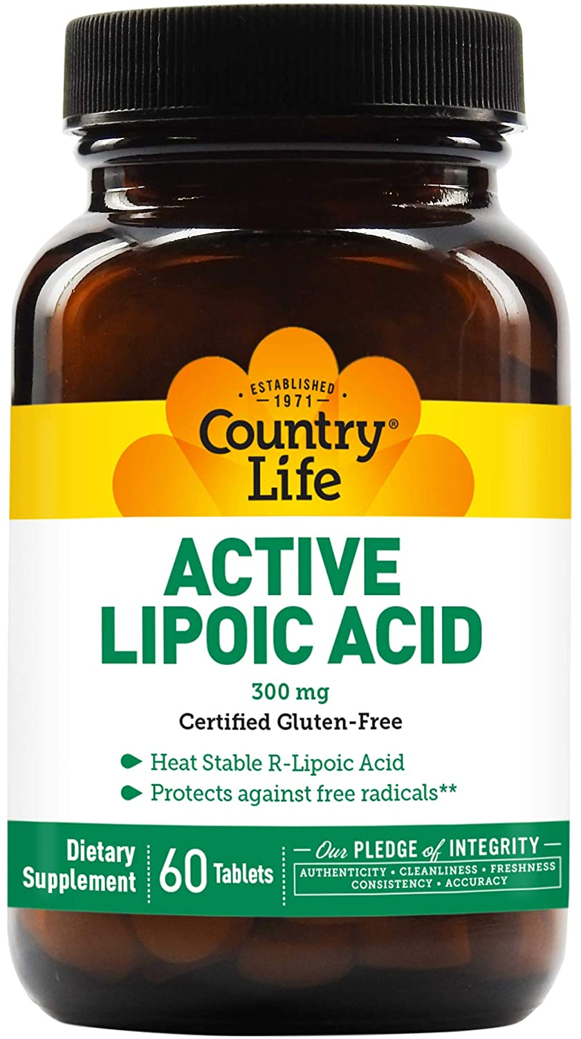 Country Life Active Lipoic Acid (Sustain Release), 60-Tablet