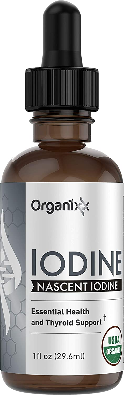 Organixx - Iodine - Pure Liquid Iodine Supplement - 1 fl. oz. - Support Healthy Thyroid Function, Restore Optimal Iodine Levels, Boost Mood & Energy Levels