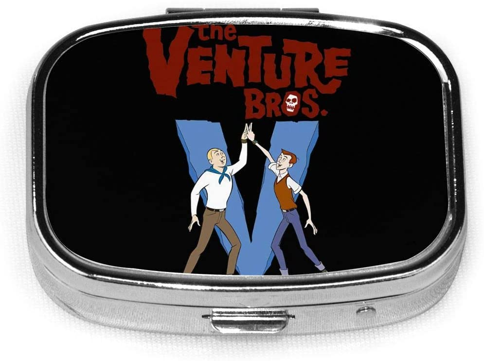 Wehoiweh The Venture Bros 2.2x1.6x0.7 Inch Mini Medicine Box, Full Size Printing is Easy to Carry