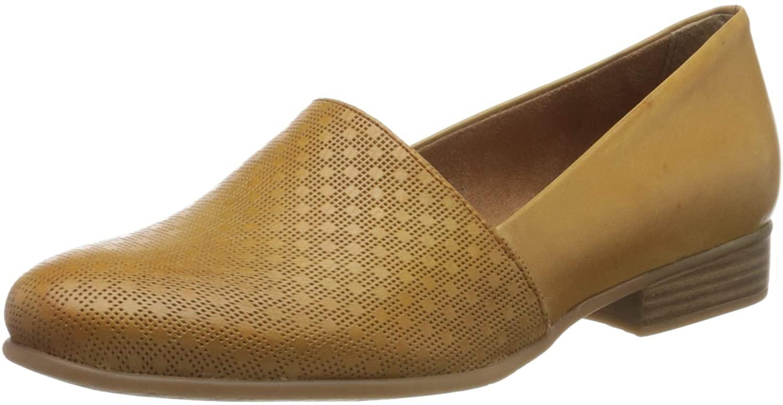 Tamaris Women's Loafers, Yellow Saffron Struct 683, 3.5 UK