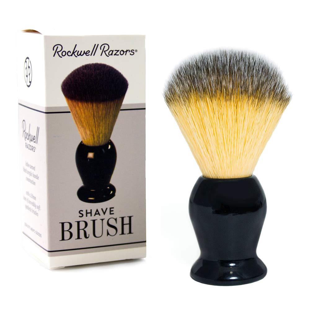 Rockwell Razors Synthetic Bristle Shave Brush with Premium Black Acrylic Handle - 20mm Knot