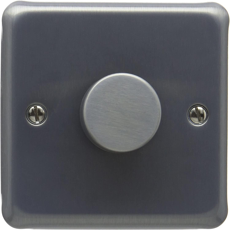 MK K1536BRCLV 300W/ 240VA 2-Way Single Dimmer Low Voltage - Brushed Chrome