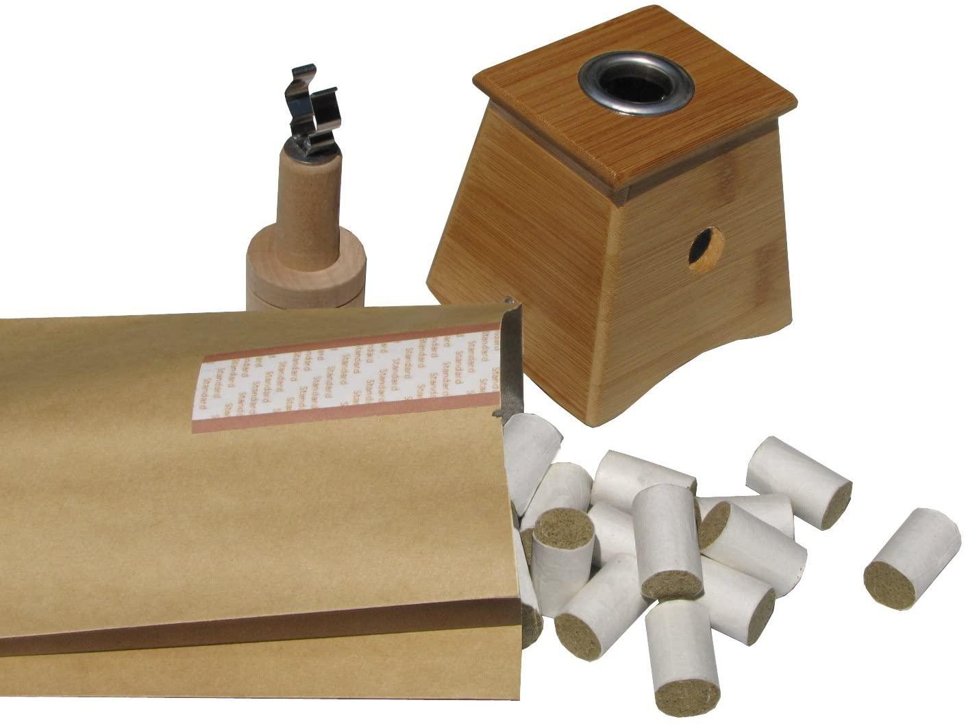 Golden Moxa One Holder Bamboo Moxa Box Set
