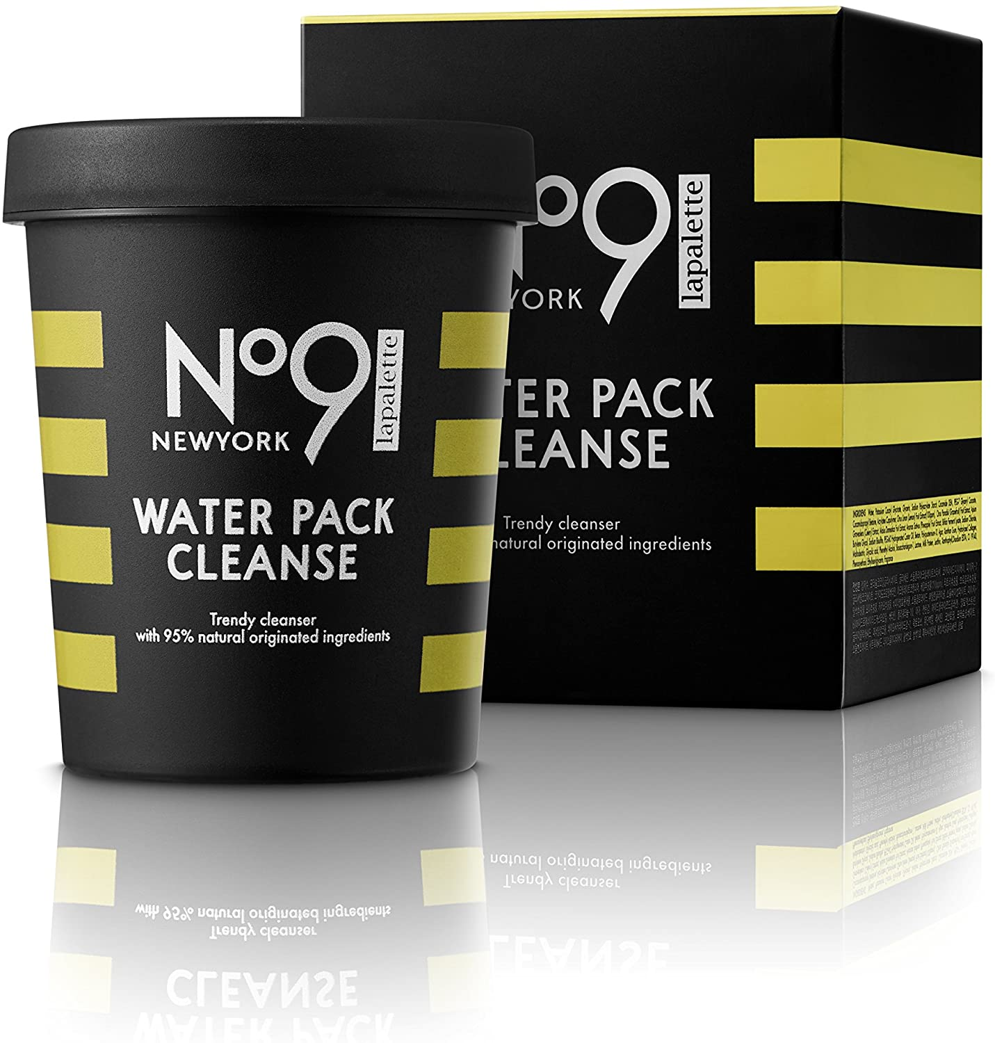 [lapalettebeauty] Lapalette No.9 Water Pack Cleans #01 Jelly Jelly Lemon 250g/8.81oz. Lemon Detox,impurities remover, whitening, moisturizer. pack to foam, cleansing