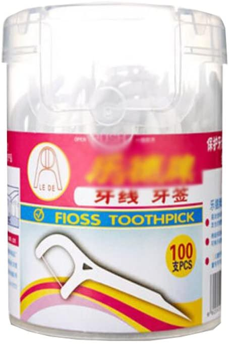 Health Care Superfine Floss Toothpick Floss Pick Strong Tensile Bottles of 3