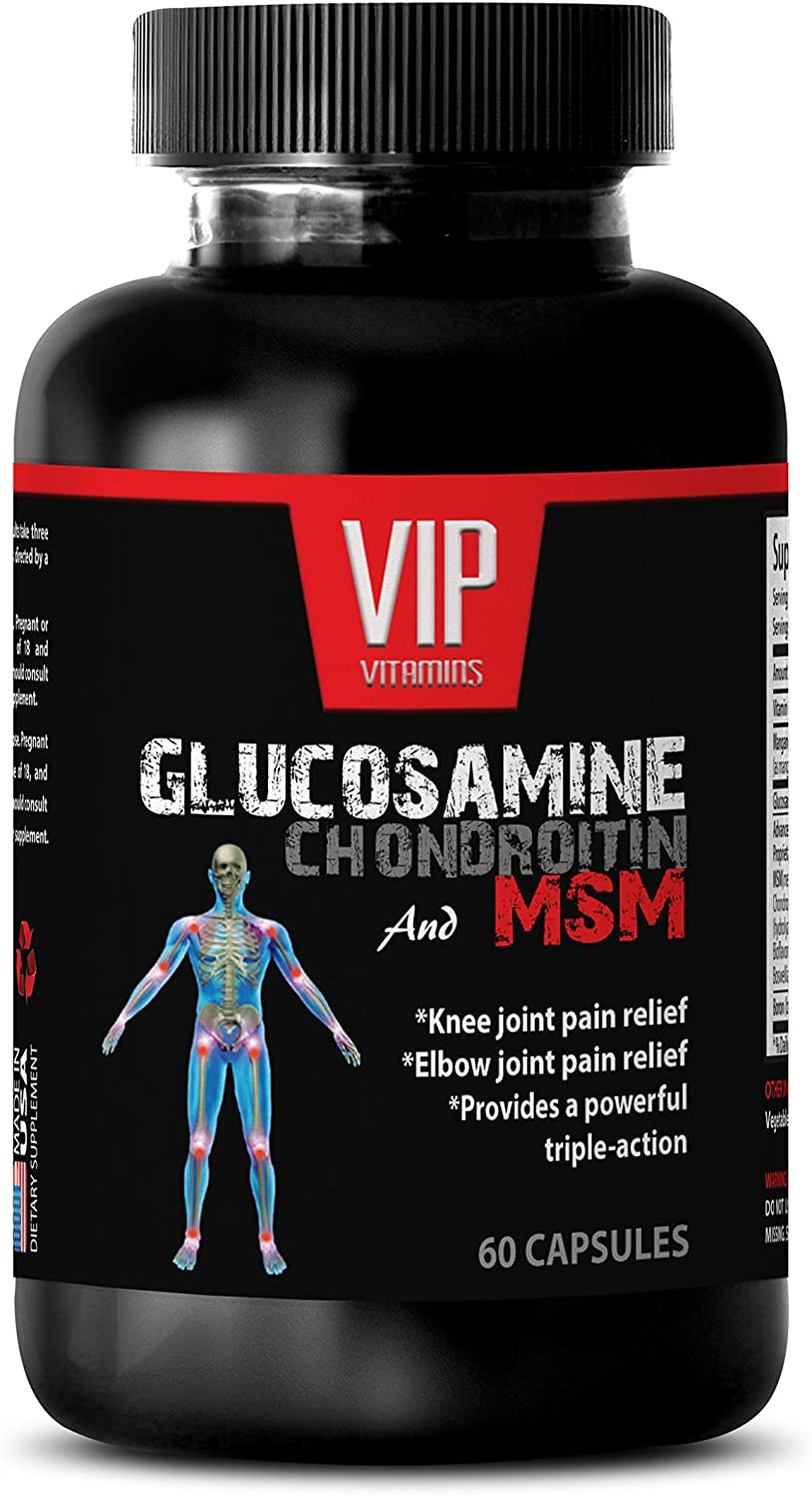 antiaging Tablets - GLUCOSAMINE CHONDROITIN & MSM 3200MG - glucosamine with msm - 1 Bottle 60 Capsules