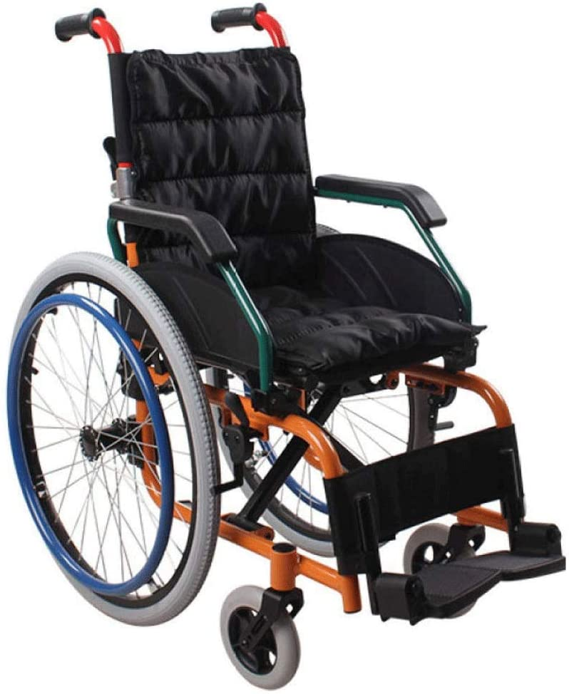 HWZLOIK Wheelchair - Manual Wheelchair with Attendant Operated Brakes, Easy to Install and Release,Easy to Fold, Size; 95x33x68cm