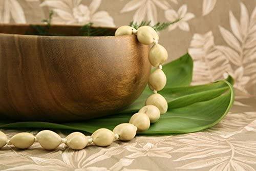 Hawaiian Kukui Nut Lei Necklace- White