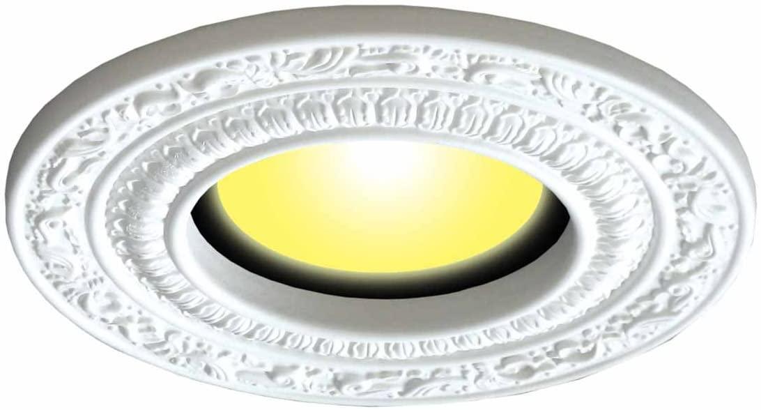 Recessed Spot Light Trim White Urethane Recess 6